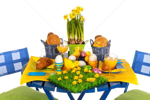 Easter table Stock photo © ivonnewierink