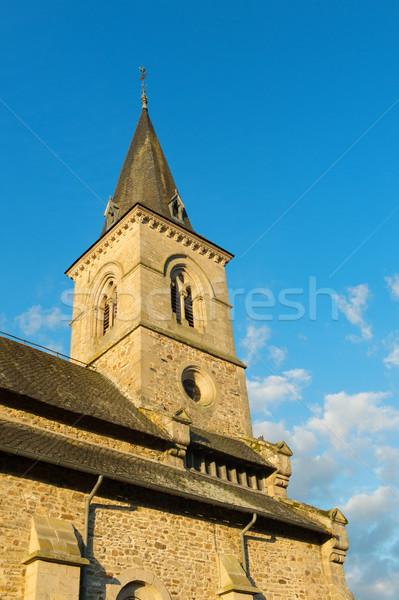 French church tower Stock photo © ivonnewierink