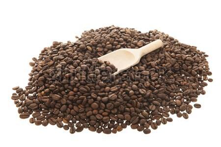 Kávé fakanál kávé izolált fehér háttér Stock fotó © ivonnewierink