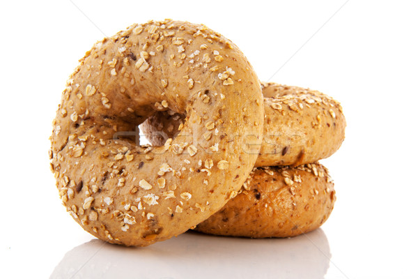 Aislado blanco pan grano agujero tres Foto stock © ivonnewierink