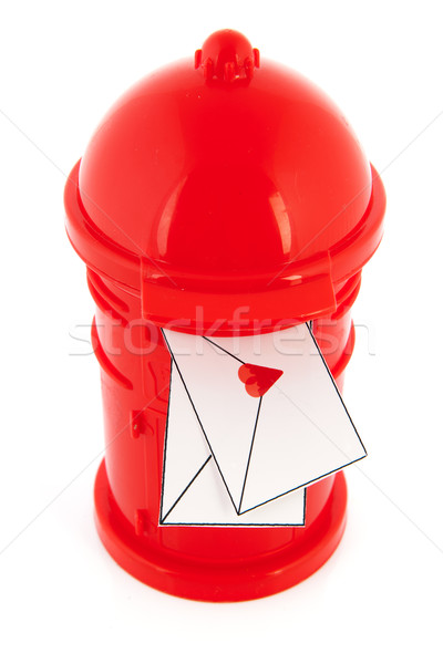 Love letters in red post box Stock photo © ivonnewierink