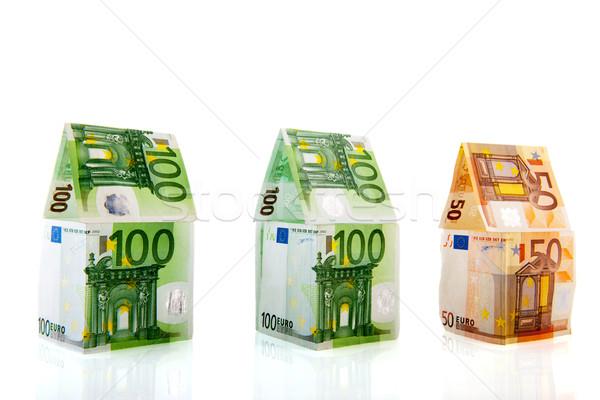 money houses in a row Stock photo © ivonnewierink