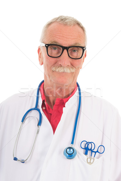 Physician on white background Stock photo © ivonnewierink