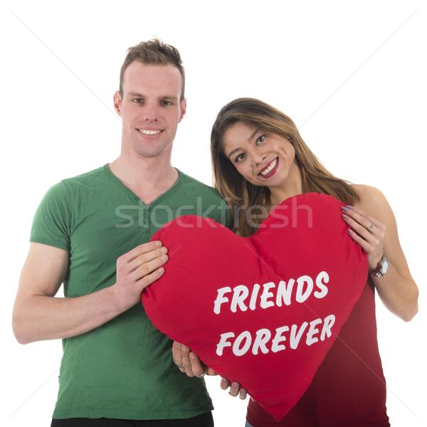 Amor casal amigos para sempre homem mulher Foto stock © ivonnewierink