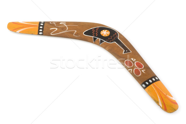 австралийский бумеранг окрашенный птица Живопись Сток-фото © ivonnewierink