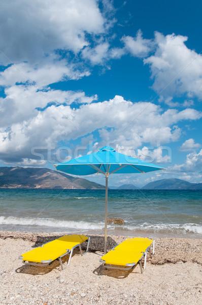 Stockfoto: Landschap · strand · Grieks · eiland · water · zee