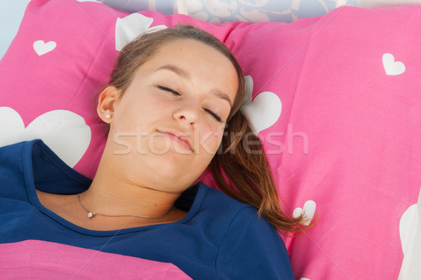 Sleeping teen girl Stock photo © ivonnewierink
