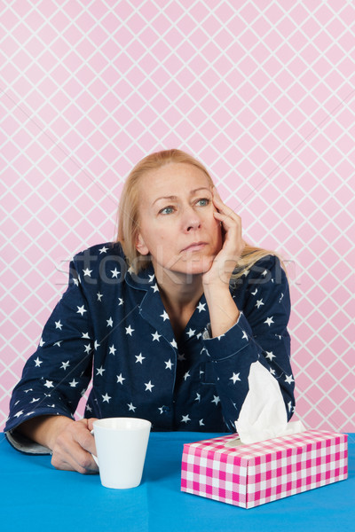 Depressive woman Stock photo © ivonnewierink