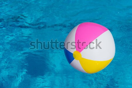 Inflatable ball at swimming pool Stock photo © ivonnewierink