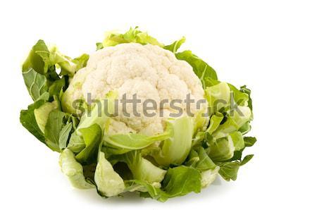 изолированный цветная капуста зеленый белый продовольствие Сток-фото © ivonnewierink
