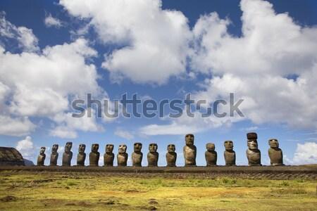 Paskalya Adası onbeş yakın yer taş Stok fotoğraf © ivonnewierink
