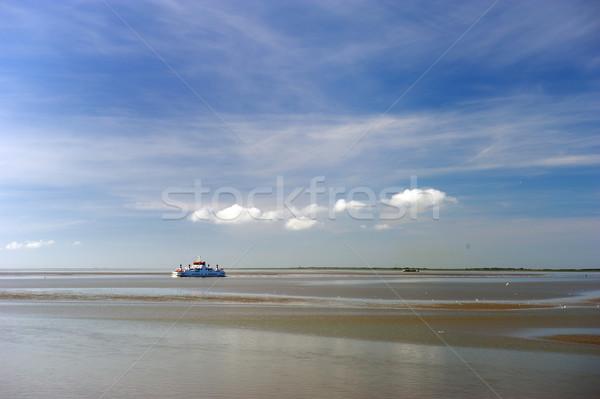 Pont boot zee landschap schip modder Stockfoto © ivonnewierink
