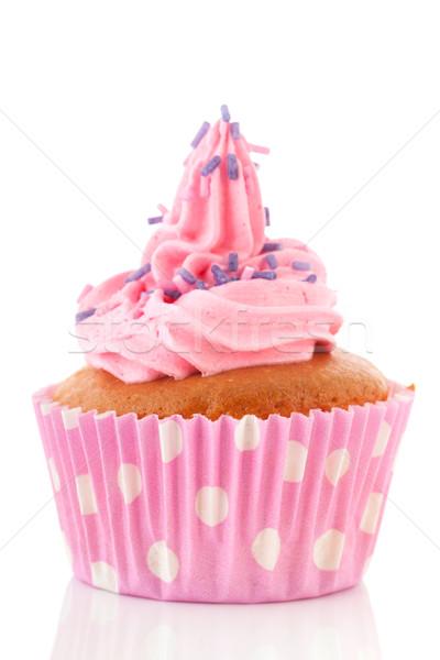Pink cupcake Stock photo © ivonnewierink