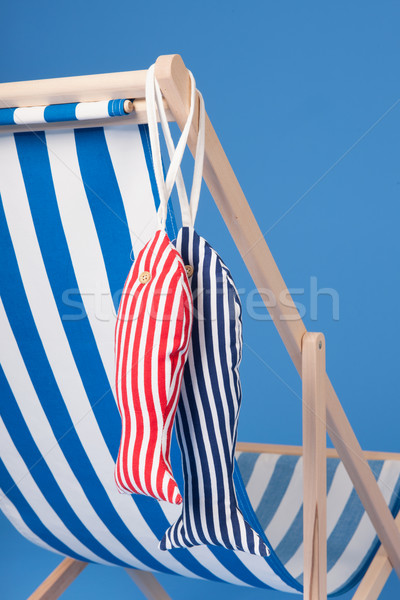 Mavi şezlong plaj yaz stüdyo Stok fotoğraf © ivonnewierink