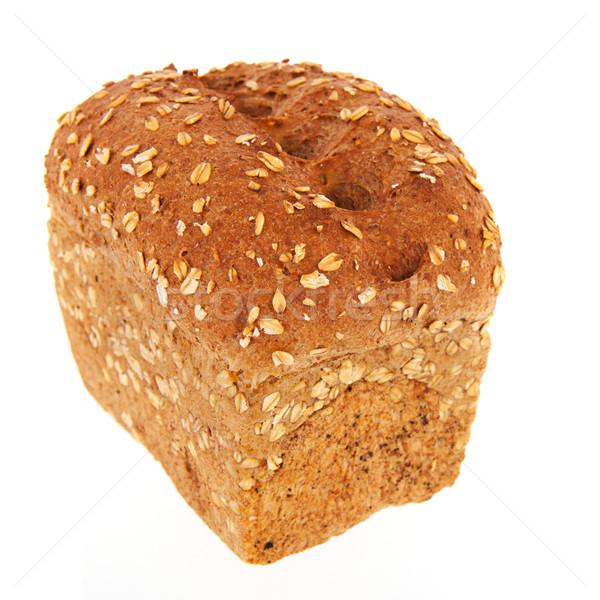 Yulaf yemek ekmek bütün arka plan beyaz Stok fotoğraf © ivonnewierink