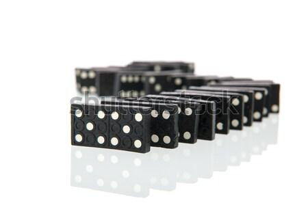 Dominó cartões isolado branco jogar Foto stock © ivonnewierink
