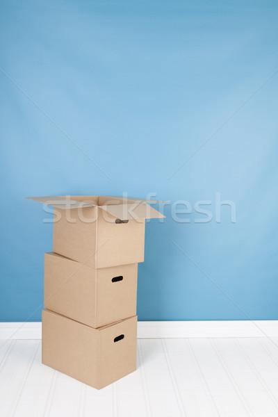 Rimozione casa scatole interni tre nessuno Foto d'archivio © ivonnewierink