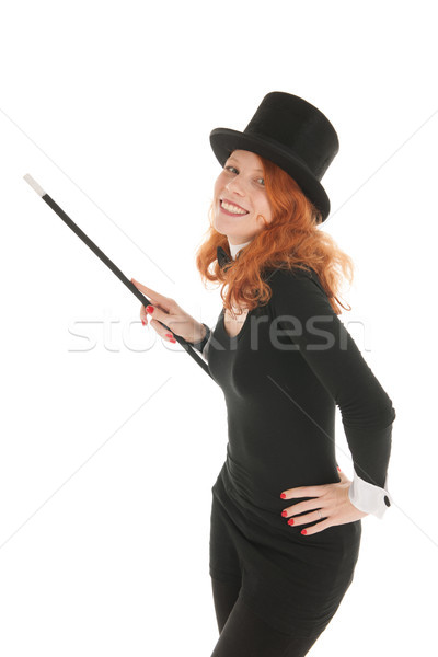 Woman dressed for party smiling Stock photo © ivonnewierink