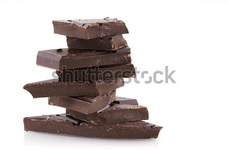 Chocolate amargo feliz escuro gordura Foto stock © ivonnewierink