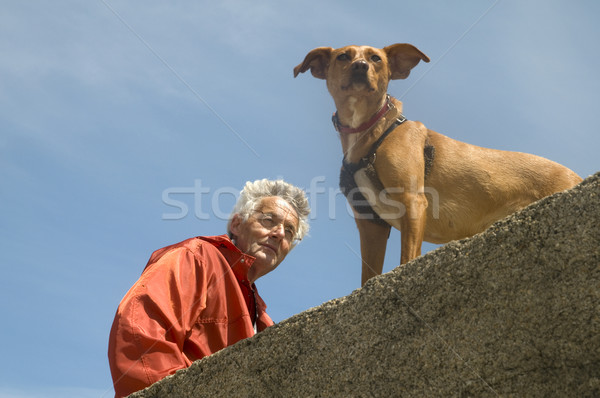 Man with his dog Stock photo © ivonnewierink