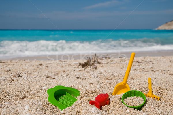 Gyermek játékok tengerpart műanyag víz tenger Stock fotó © ivonnewierink