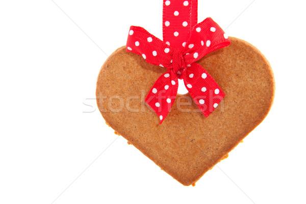 Baked gingerbread cookie heart Stock photo © ivonnewierink