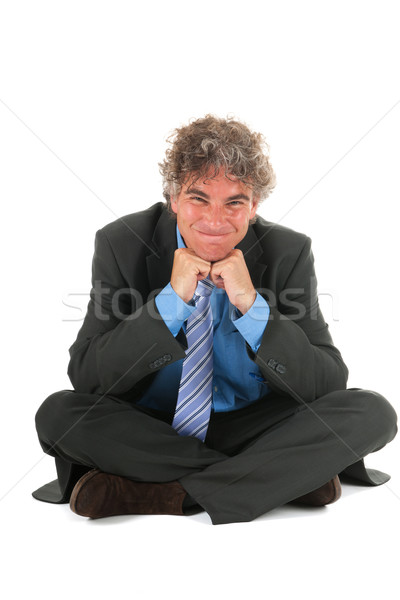 Critical manager sitting on floor Stock photo © ivonnewierink