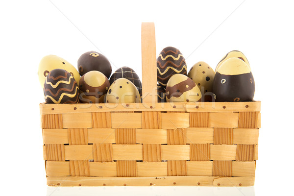 Basket chocolate eggs Stock photo © ivonnewierink