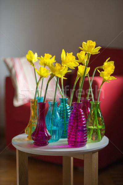 желтый нарциссов интерьер весны дома красочный Сток-фото © ivonnewierink