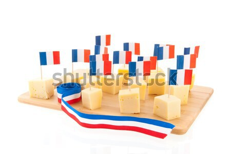 Dutch cheese cubes Stock photo © ivonnewierink