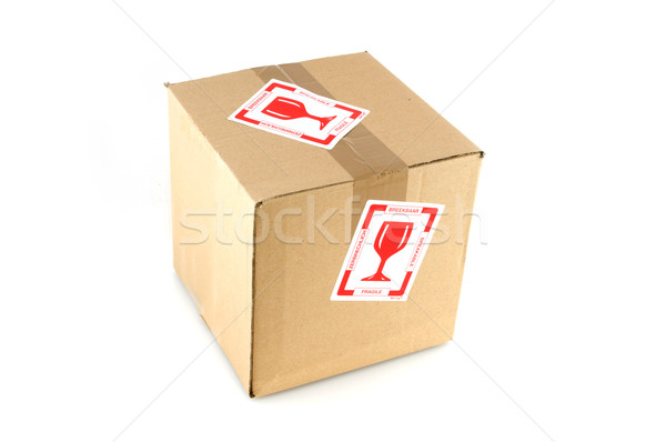 fragile filled box Stock photo © ivonnewierink