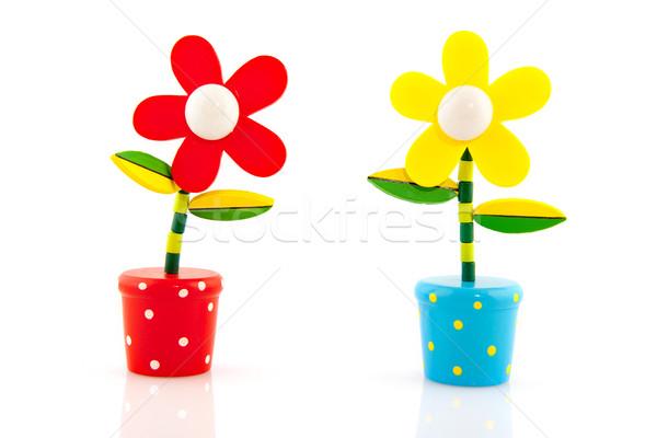 Verão alegre flores vermelho brinquedos Foto stock © ivonnewierink