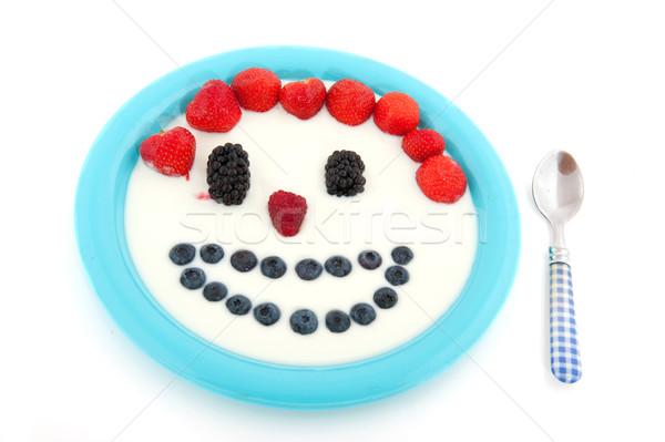 Diversity fresh fruit in yogurt Stock photo © ivonnewierink