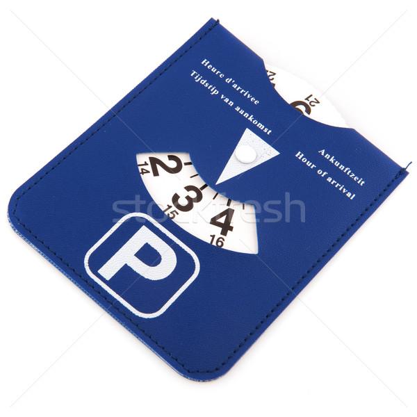 Holenderski parking karty odizolowany biały czasu Zdjęcia stock © ivonnewierink