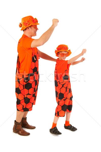 Dutch orange soccer supporters Stock photo © ivonnewierink