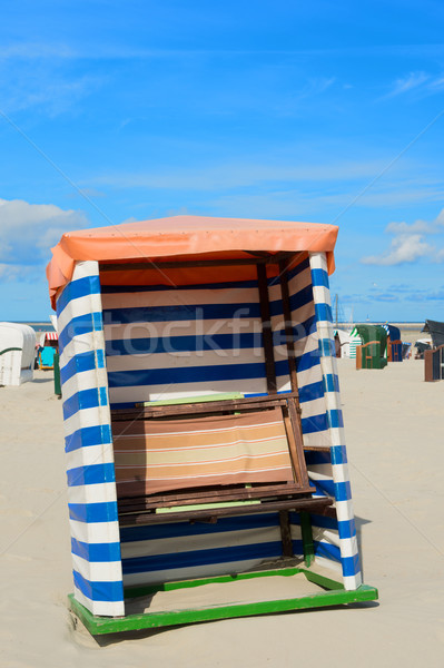 Beach tent Borkum Stock photo © ivonnewierink