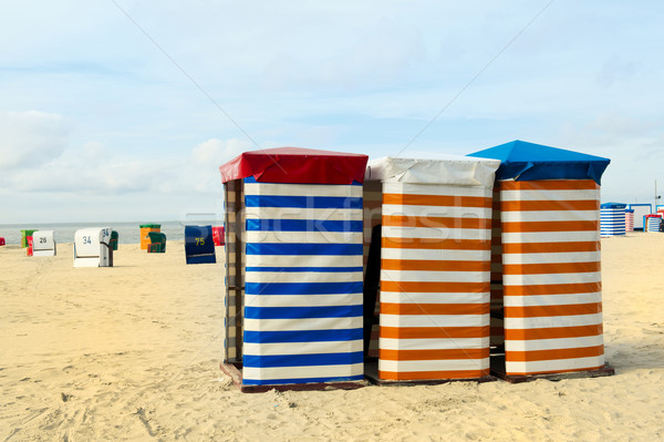 Beach chair at the sea Stock photo © ivonnewierink