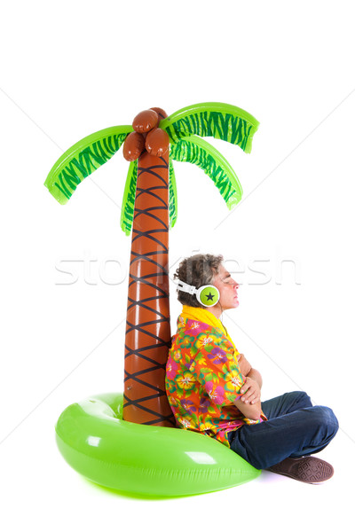 Tourist on tropical vacation Stock photo © ivonnewierink