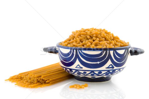 Tutto pasto pasta maccheroni spaghetti alimentare Foto d'archivio © ivonnewierink