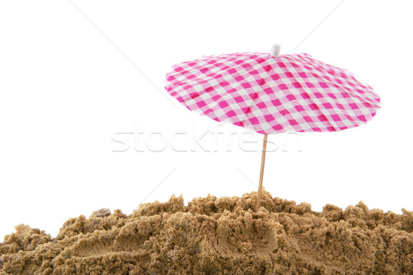 Güneş şemsiyesi plaj güneş tatil gölge Stok fotoğraf © ivonnewierink