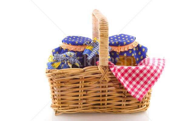 Wicked cane picnic basket Stock photo © ivonnewierink