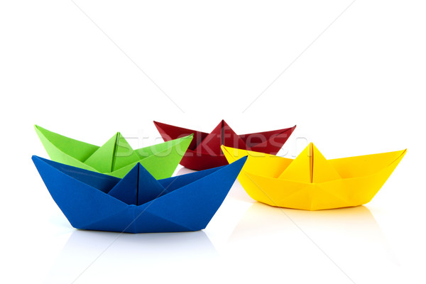 colorful paper boat Stock photo © ivonnewierink