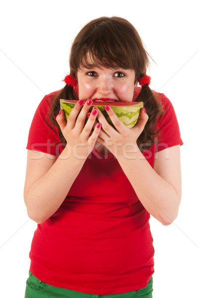 Eating water melon Stock photo © ivonnewierink