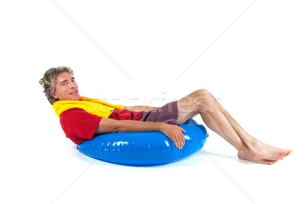 Playa nino adulto hombre sesión Foto stock © ivonnewierink