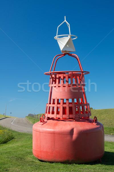 Rosso boa erba banca isola Foto d'archivio © ivonnewierink