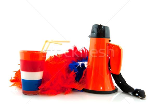Holandés equipo deportivo naranja bandera beber equipo Foto stock © ivonnewierink