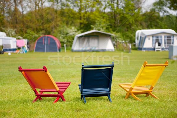 Campground Stock photo © ivonnewierink