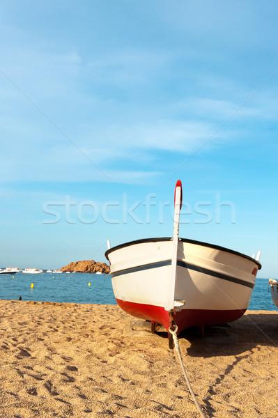 Vissersboot spaans kust strand natuur reizen Stockfoto © ivonnewierink