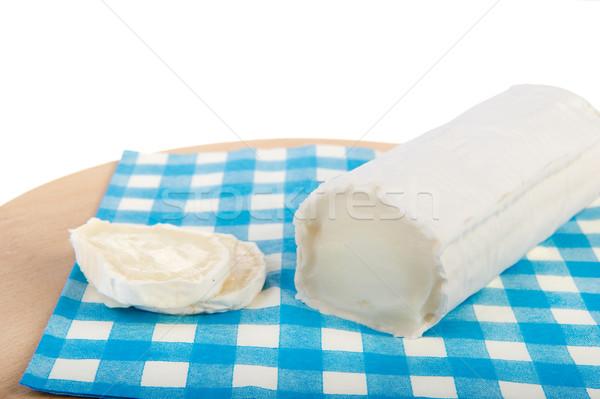 свежие Сыр из козьего молока синий салфетку продовольствие Сток-фото © ivonnewierink
