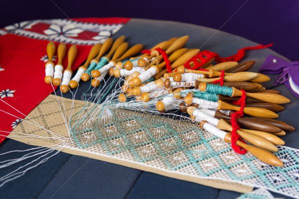 Making bobbin lace Stock photo © ivonnewierink